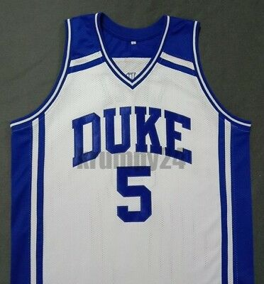 cabd619b409 JEFF CAPEL III DUKE Blue Devils White Basketball Jersey Gift Any Size