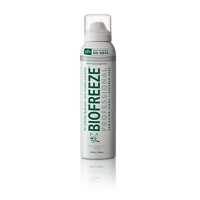 BIOFREEZE PRO 360 degree 4 oz Spray Pain Relief NO MESS , FREE SHIPPING 2020+ N