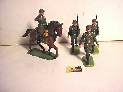 Soldatini Toy Soldiers Elastolin Germany plastica dura scala 1:32 cm 8