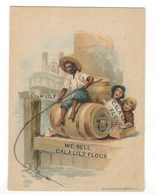 Old Calla Lily Flour C.g. Voigt Advertising Card With Instructions On Back