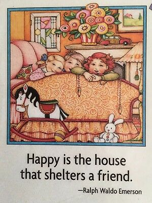 Mary Engelbreit Artwork-Happy Is The House-Handmade Magnets