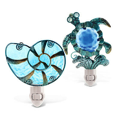 Puzzled Sea Turtle And Shell Night Lights