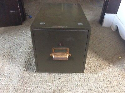 VIntage YAWMAN & ERBE single drawer  File Card Cabinet Box