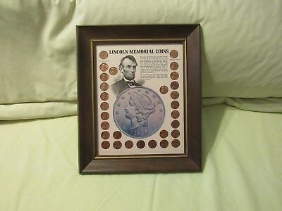 Lincoln Memorial Coins - 1958 - 1971 - Framed for Display