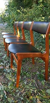 Mid-Century Modern Danish Set of 4 Dining Chairs by Dyrlund
