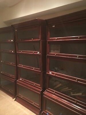 Antique Glass Front Barrister / Lawyer's Bookcases (3 sets of 5) Solid Cherry.