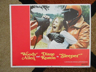 SLEEPER Vintage Lobby Card #8 1974 United Artists Diane Keaton Woody Allen 74/19