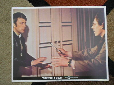 Alistair MacLean's PUPPET ON A CHAIN Vintage Lobby Card #2 1972 Cinerama 72/120
