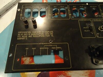 Pioneer SX-1250 Stereo Receiver Parting Out Back Panel