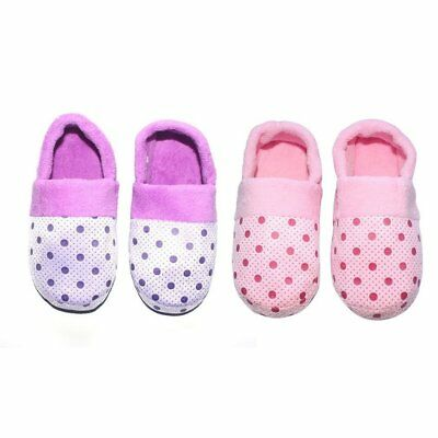 Lovely Dots Indoor Slippers Ankle Wrapped Soft Cotton Non-slip Sole Slippers AU