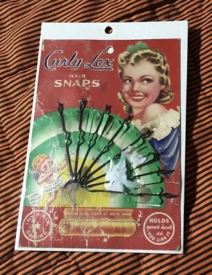 Vintage Card Of Curly Lox Hair Snaps New Old Stock