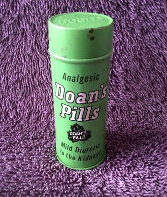 Vintage Doan's Pills Round Metal Container With Lid