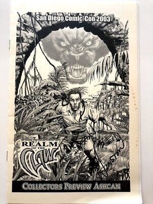 Limited Edition Realm of the Claw SIGNED by STAN WINSTON 2003 Comic-Con No Res!