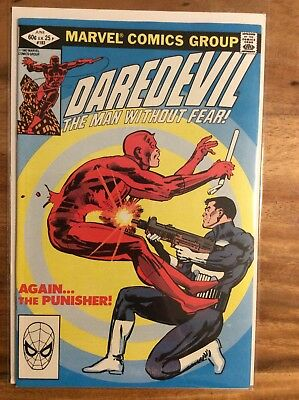 Daredevil 183, Nm (9.2 - 9.4) 1St Print, Vs Punisher, Frank Miller, 1982
