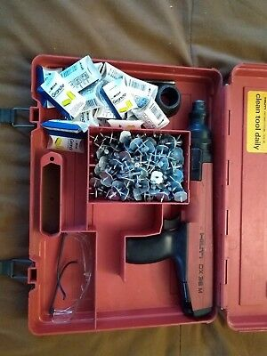 HILTI DX36M Semi Automatic Powder Actuated FASTENING TOOL NAIL GUN w/ Case