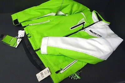 New 2 Extra Large Arctic Cat Champion Jacket Coat Green/White Snowmobile 2XL
