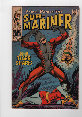 Sub-Mariner #5 (Sep 1968, Marvel) First Appearance of Tiger Shark KEY ISSUE