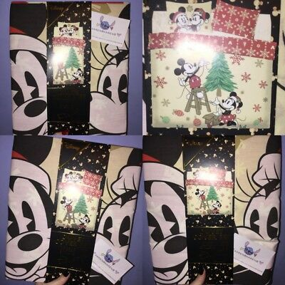 Primark DISNEY MICKEY MINNIE MOUSE CHRISTMAS Duvet Cover SINGLE DOUBLE KING