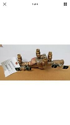 """Watts 1"""" 009M2 Backflow Preventer Reduced Pressure Zone Assembly RPZ 1 009M2-QT"""
