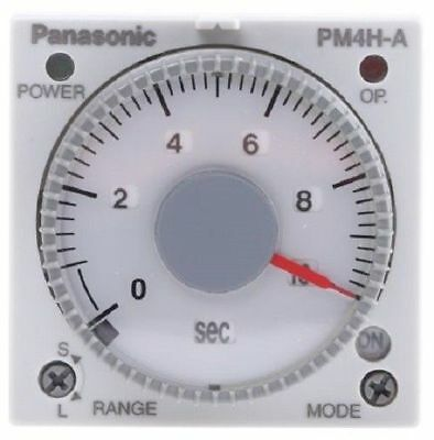Panasonic 2912523 Multi Function Timer Relay, Screw, 1s - 500 h, 24 V ac/dc