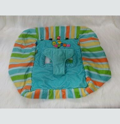 Taggies Baby Shopping Cart Cover Tag And Go Green Blue Orange Stripes Dots  B350