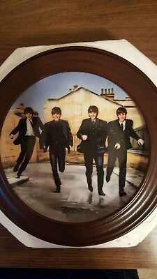 THE BEATLES A HARD DAY'S NIGHT 1992 Bradford Exchange L/E Plate Framed