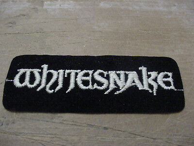 """VINTAGE LOT  of 3  WHITESNAKE EMBROIDERED / IRON PATCH 70'S ROCK  5"""""""