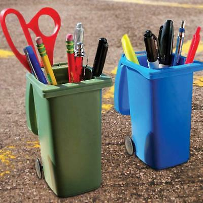 Plastic Desk Organizer Desktop Office Pen Pencil Holder Storage Tray Trash can