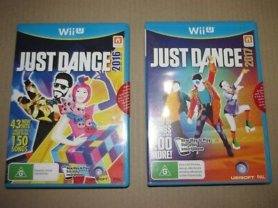 Wii U Just Dance 2016 and Just Dance 2017 Bundle, Brand New