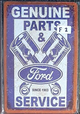 Ford Genuine Parts & Service Metal Tin Signs Bar Shed & Man Cave Signs AU Seller