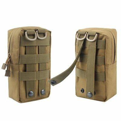 2 Pack Camouflage Molle Pouches - Tactical Compact Water-resistant EDC Pouch ACU