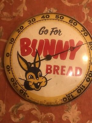 Vintage Advertising Bunny Bread Thermometer ' 57