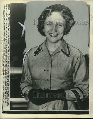1952 Press Photo Margaret Truman aboard SS United States in New York - nox16219