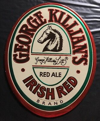 Vintage George Killian's Irish Red Ale Wall Sign Plaque 1986 Adolph Coors