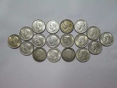 Great Britain Florin Two Shillings Silver Mixed Date World Coin Collection Lot