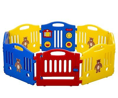 Details about  New 8 Panel Safety Play Center Yard Baby Playpen Kids Home Indoo