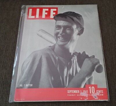 Life Magazine September 1 1941 Boston Red Sox Ted Williams No 1 Batter