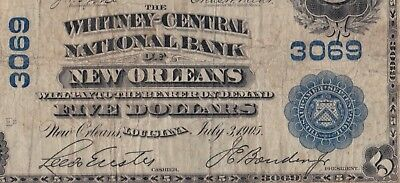 1902 $5 Whitney-Central NB New Orleans Louisiana PCGS F15 Fr.599 CH#3069 NOLA!
