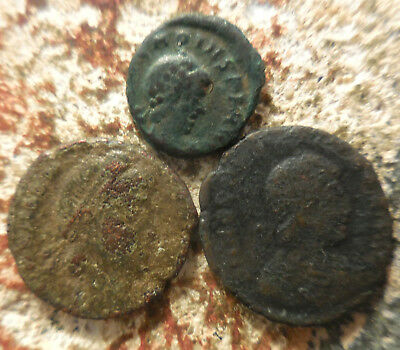 Lot of 3 Ancient Roman Coins of Emperor's Valens & Arcadius!  Full ID Envelope!