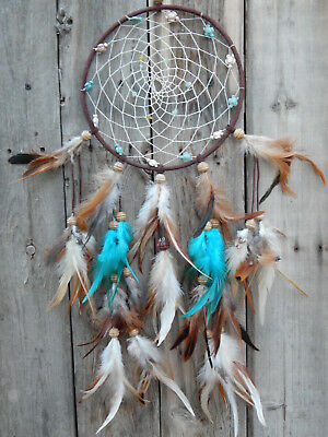 Dream Catcher Hand Made With Turtle Beads And Energized Gems