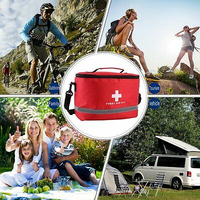 NEW Sports Camping Home Medical Emergency Survival First Aid Kit Bag Outdoors AL