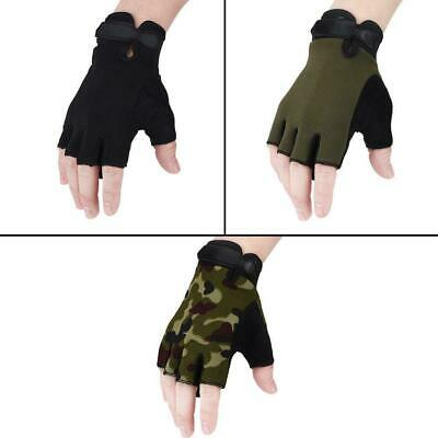 Outdoor Tactical Military Gloves Half Finger Cycling Driving Climbing Mittens WY