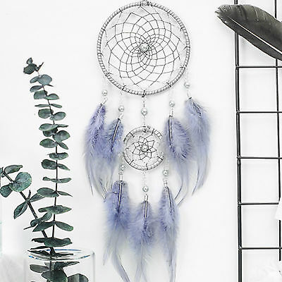 Handmade Dream Catcher With Feathers Car Wall Hanging Decoration Ornament Gifts