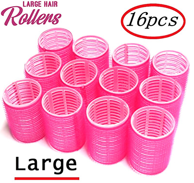 16pcs Self Grip Rollers Cling Stick Hair Curler Wave Styling Salon Setting Tool