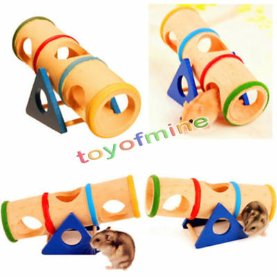 Wooden Colorful Seesaw Cage House Hide Play Pet Toy for Hamster Rat Mouse Mice