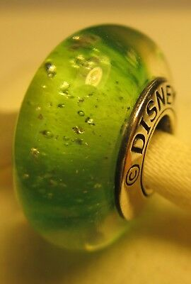 New Authentic Pandora Silver 925 Ale Tinkerbell Green Disney Glass Bead Charm