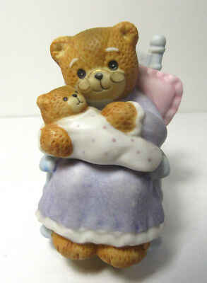 Lucy & Me ~ Grandma in Rocking Chair with Baby Lucy ~ Enesco Porcelain Figurine