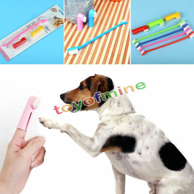 1Set Pets Finger Toothbrush Dental Care Cat Dog Soft Fine Wool Clean Tooth Brush
