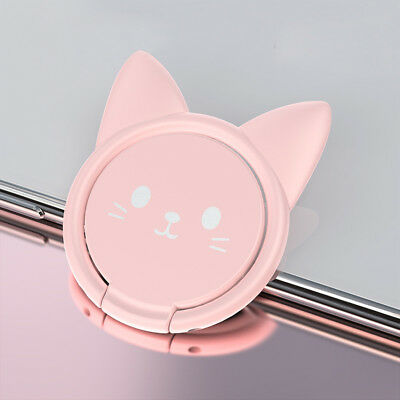 Universal 360° Rotating Cat Finger Grip Ring Stand Holder for Mobile Cell Phone