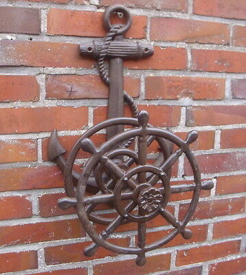 Hose Reel Anchor Tube Holder Cast Iron Retro Country Style Ships